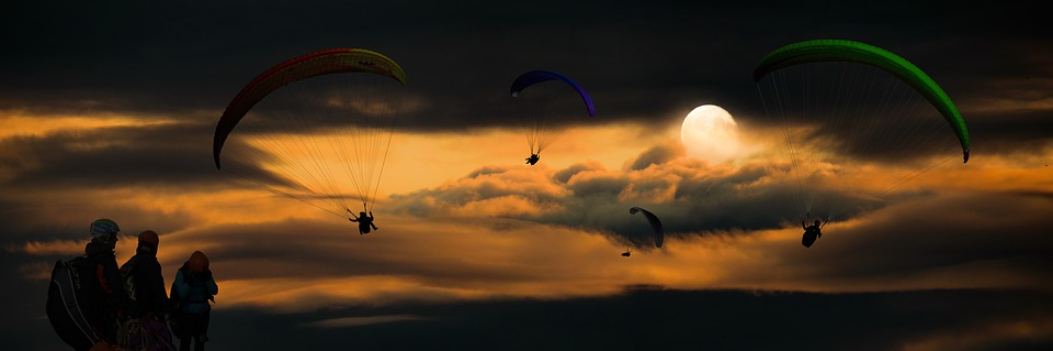 Sport, Flying, Adventure, Paragliding, Paraglider