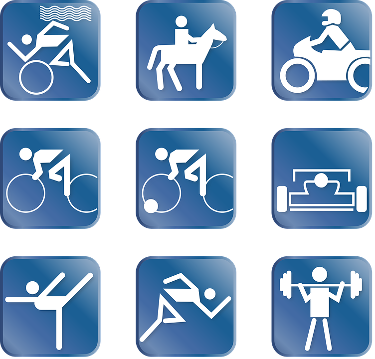 Sport, Pictogram, Triathlon, Ride, Motorsport