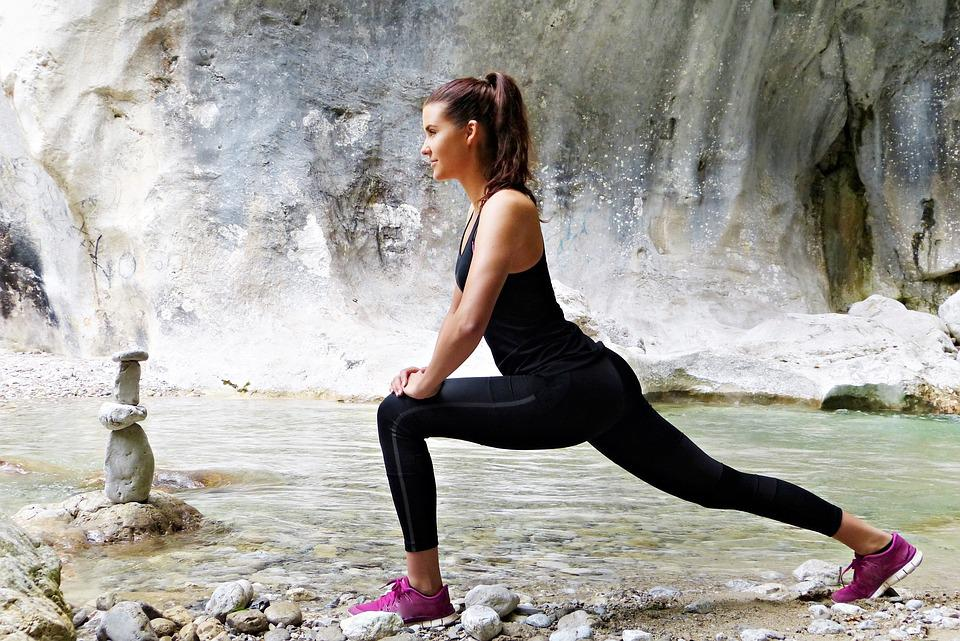 Young Woman, Girl, Sporty, Nature, River, Sport, Young