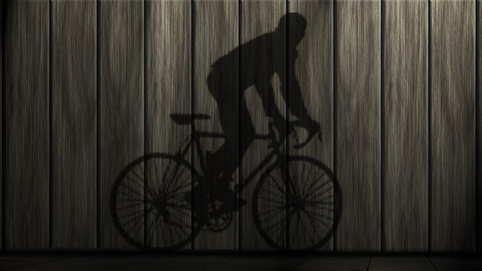 Bike, Shadow, Sport, Hispanic, Human, Shadow Play