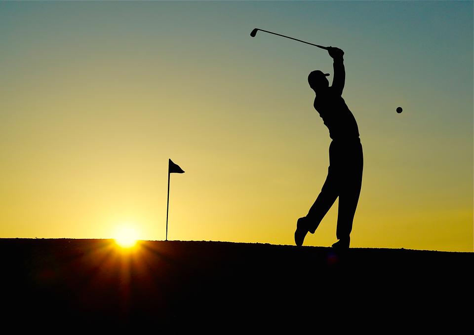 Golf, Sunset, Sport, Golfer, Bat, Einlochfahne, Outdoor