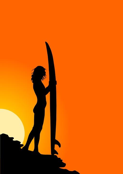 Surfer, Surf, Sea, Wave, Sport, Ocean, Beach, Girl