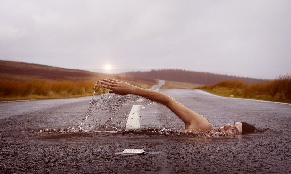 Swimmer, Sport, Swim, Water, Swim Stroke, Human, Road