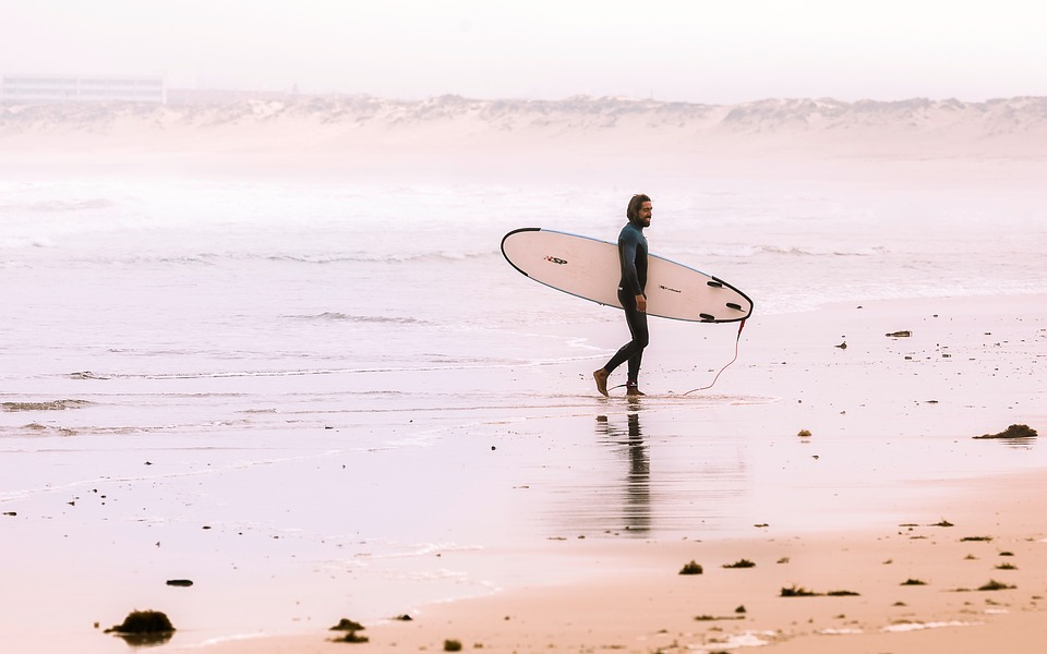 Beach, Ocean, Sea, People, Man, Surf, Sports, Fun