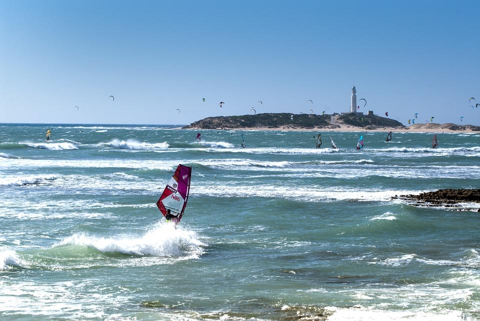 Beach And Windsurfing, Sports, Cadiz, Canos De Meca