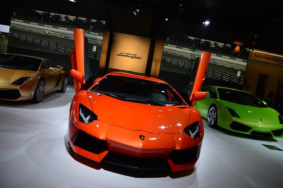 Sports Car, Classic Cars, Metal, Black, Car, Auto Show