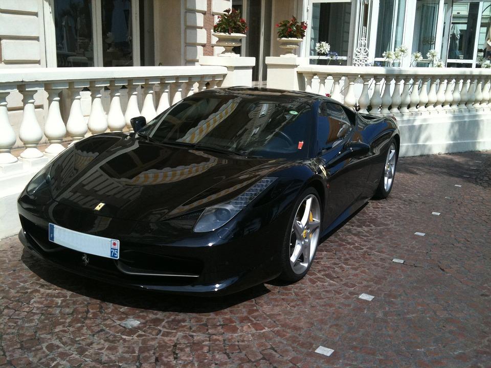 Ferrari, Sport, Automobile, Black, Sports Car, Luxury