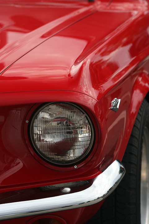 Car, Sports Car, Red, Chrome, Vintage Cars, Retro