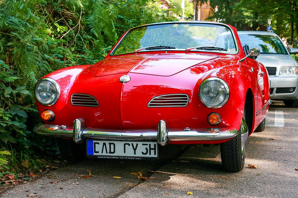 Volkswagen, Car, Vintage, Karmann Ghia, Sports Car
