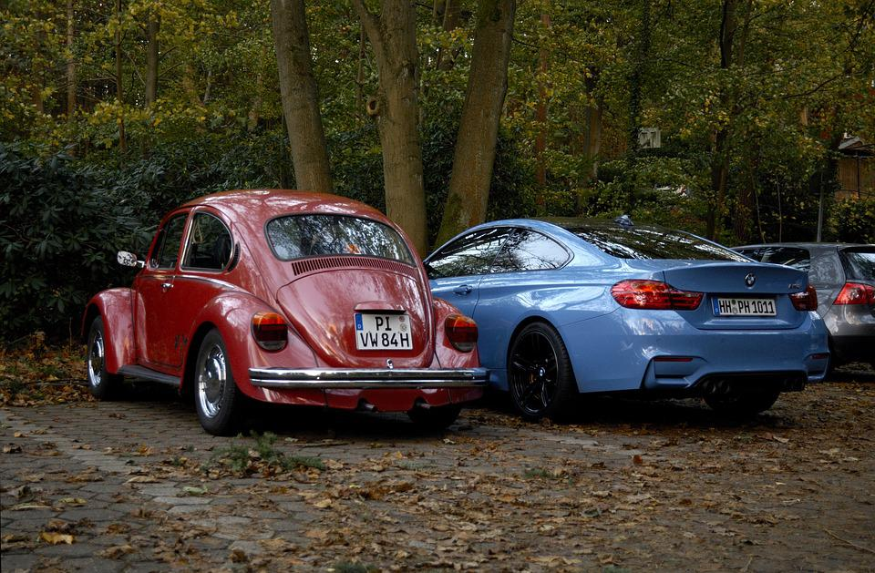 Autumn, Auto, Oldtimer, Sports Car, Leaves, Old, New