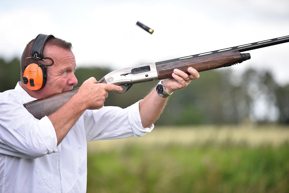 Shooting, Rifle, Man, Headphones, Sports, Focused