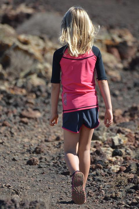 Child, People, Girl, Hiking, Sports, Motion