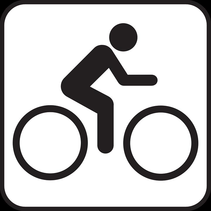 Biking, Bike, Bicycle, Sports, Sign, Symbol, Icon