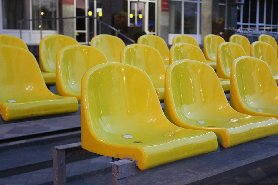 Stadium, City, Seat, Yellow, Sports