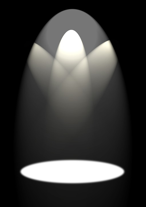 Spotlight, Stage Light, Background, Plalakt, Template
