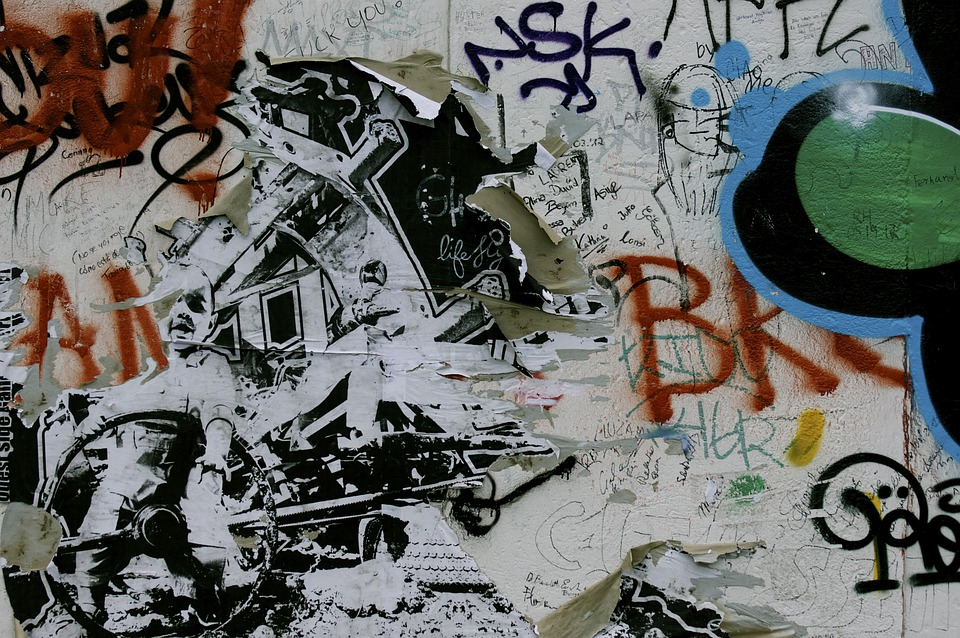 Berlin Wall, Sprayer, Spray, Graffiti, Grunge, Wall