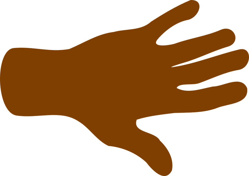 Hand, Palm, Fingers, Black, Open, Spread, Brown