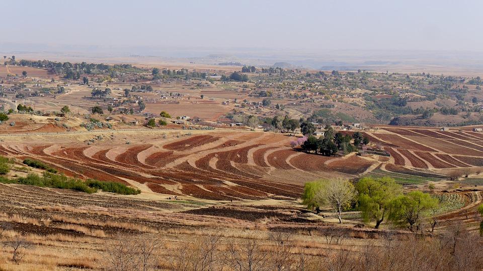 Lesotho, Landscape, Spring, Agriculture