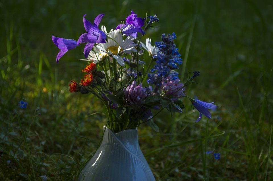 Bouquet Of Flowers, Flower, Romantic, Rural, Spring