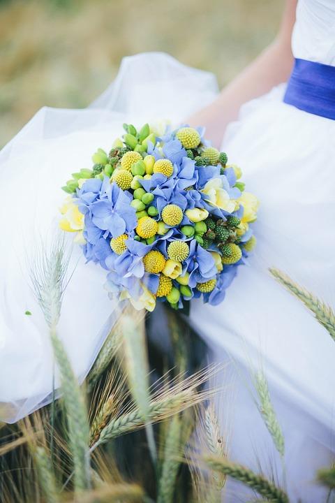 Spring, Flower, Caroline S Blue Flower, Bridal Bouquet