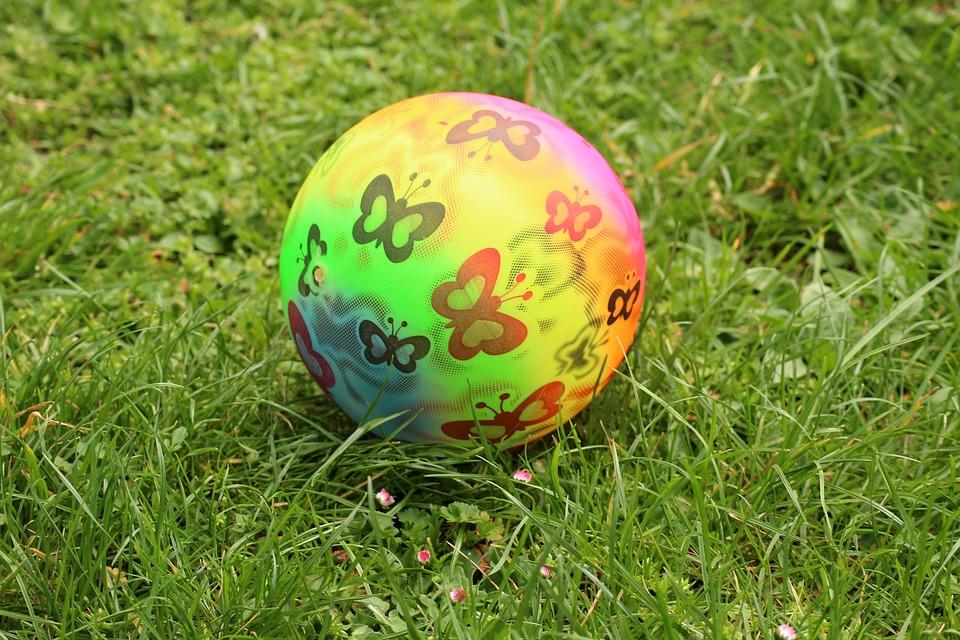 The Ball, Spring, Color, Fun, Spring Fun, Childhood