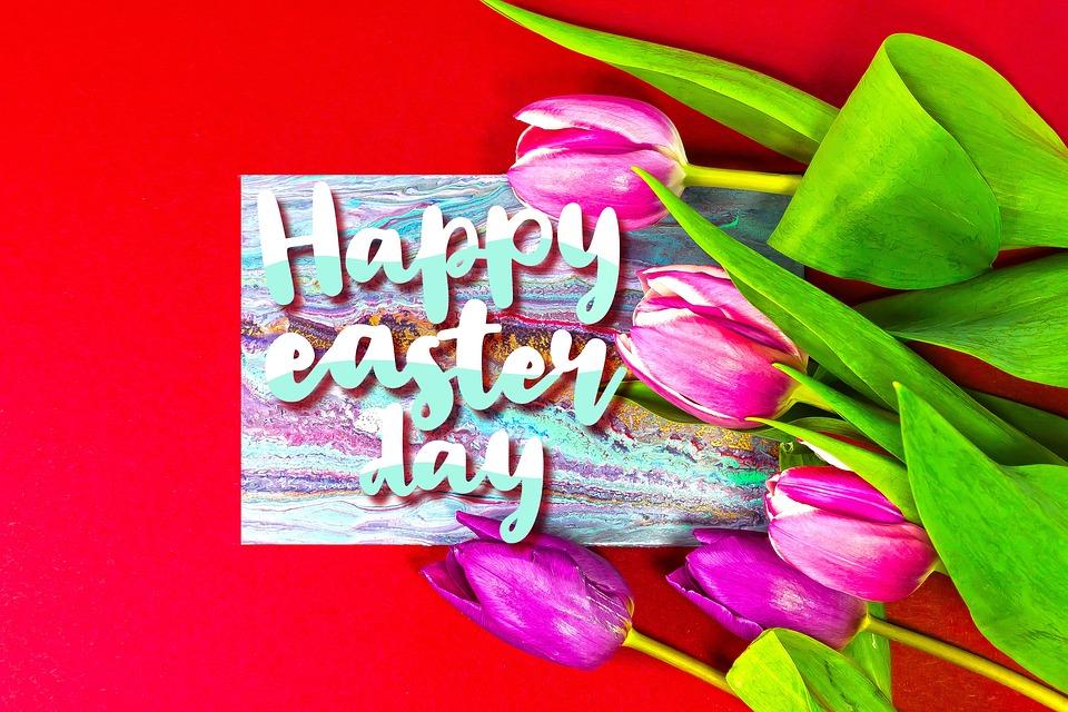 Easter, Easter Greeting, Spring, Red, Osterkarte