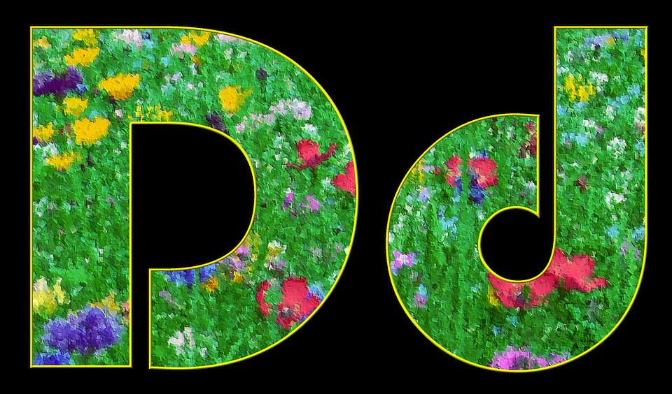 Letter, Alphabet, Font, Spring, Meadow, Flowers