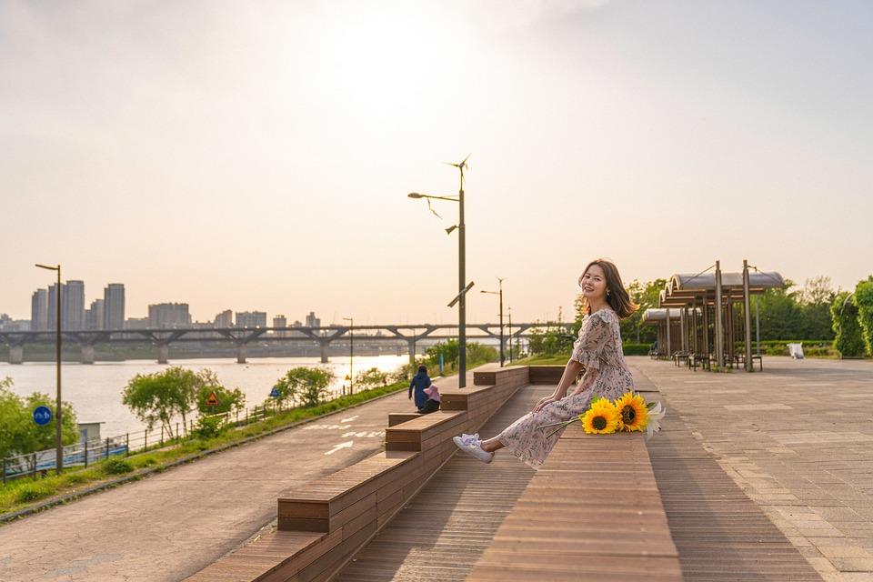 Girl, Flower, Flowers, Women's, Spring, Portraits, Pose