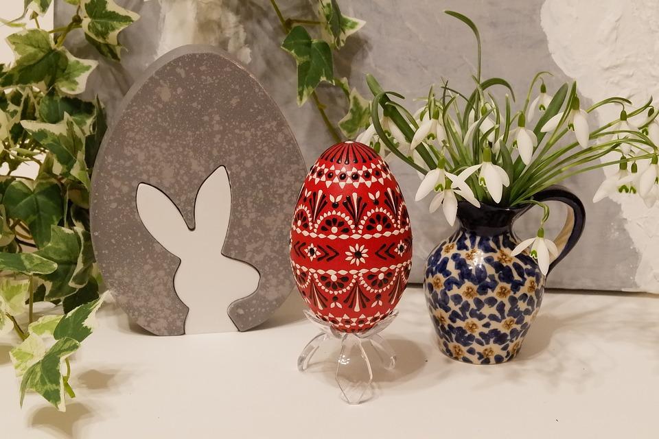 Easter, Spring, Egg, Easter Eggs, Snowdrop, Hare