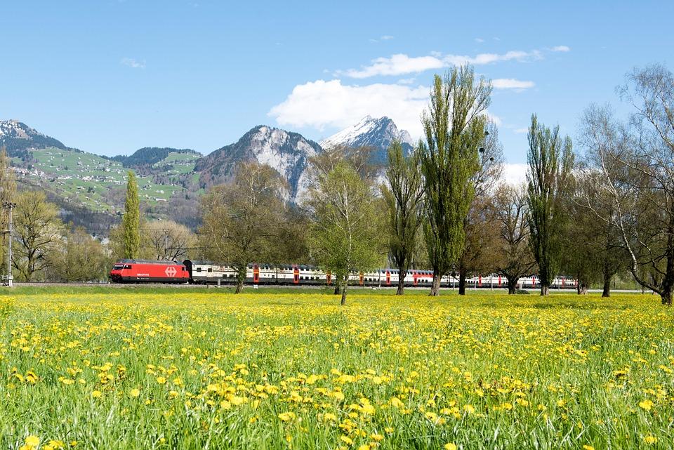 Spring, Switzerland, Landscape, Glarus, Trees