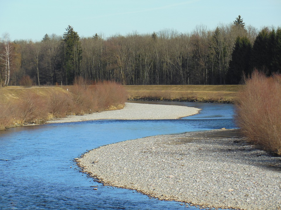 Tyrolean Ache, Spring, Overseas At The Chiemsee