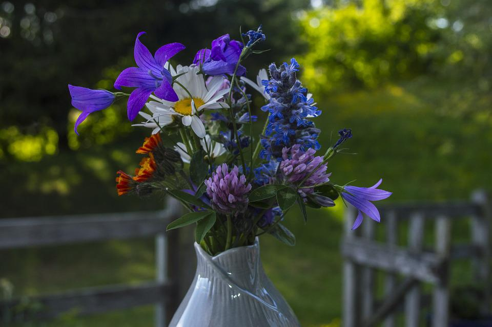 Bouquet Of Flowers, Flowers, Romantic, Rural, Spring