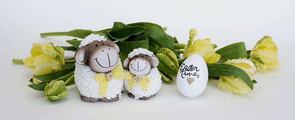Sheep, Easter, Spring, Easter Egg, Decoration