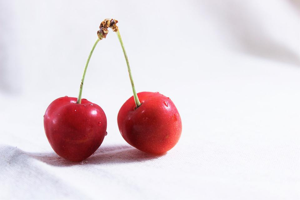 And Cherries, Red, Fruit, Sweet, Sour, Summer, Spring