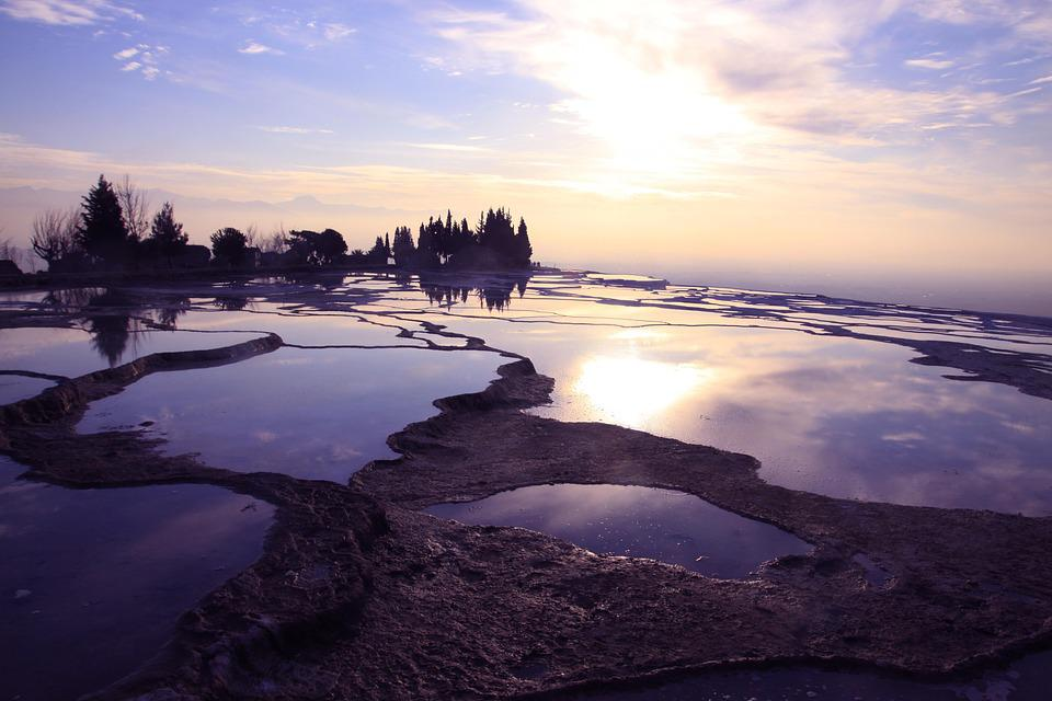 Turkey, Pamukkale, Winter, Natural, Spring Water