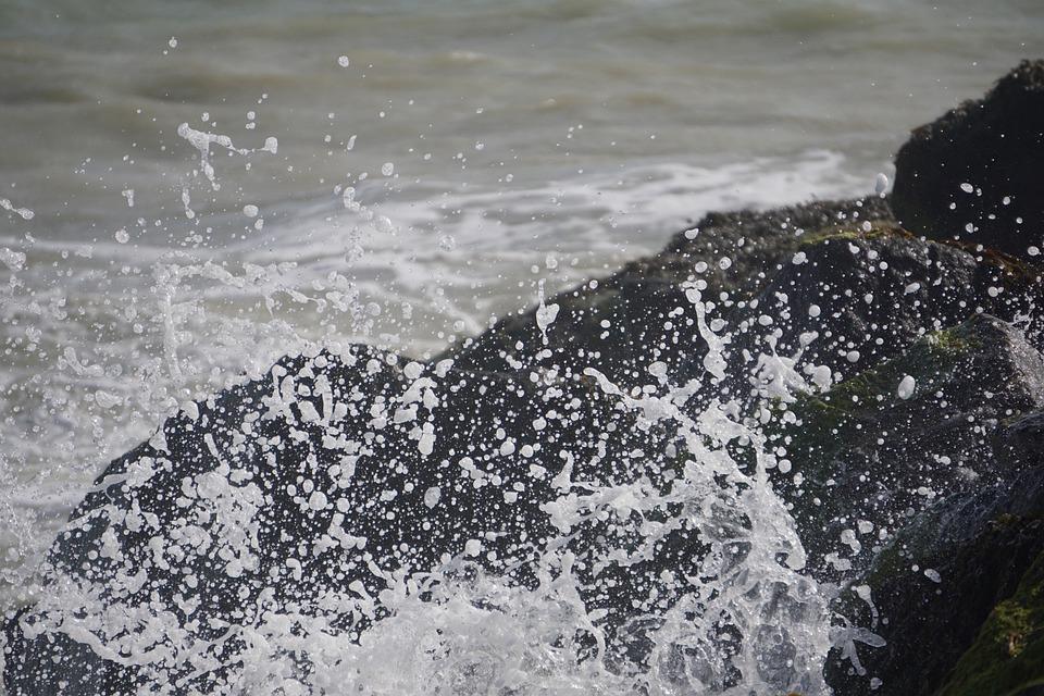 Spray, Water, Rock, Coast, Nature, Sea, Surf, Spritzer