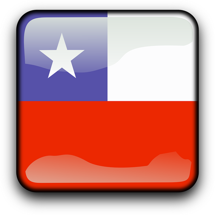 Chile, Flag, Country, Nationality, Square, Button