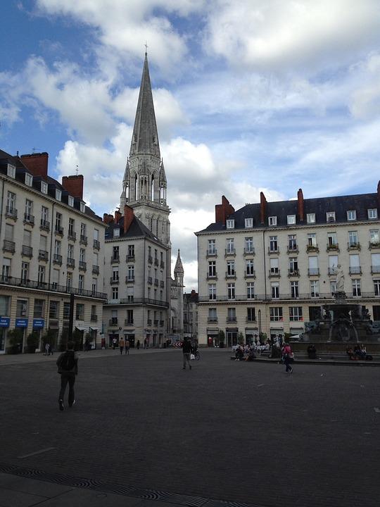 Nantes, Town Hall, Square