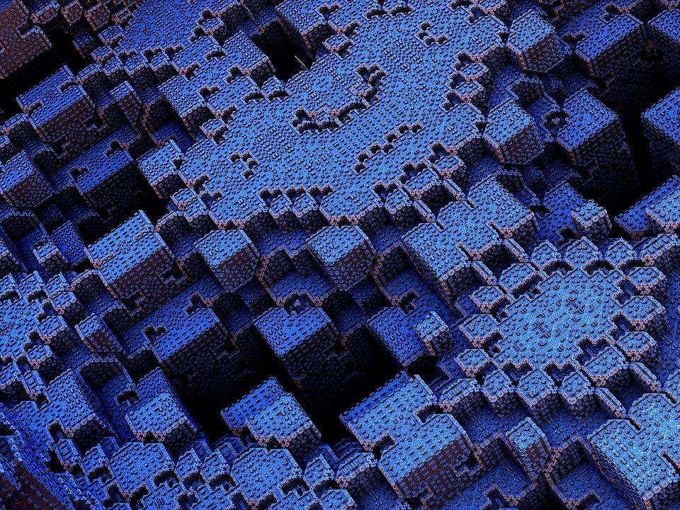 Bricks, Cubes, Squares, Block, 3d, Geometric, Building