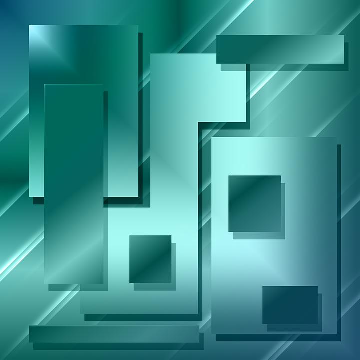 Figures, Rectangles, Squares, Mirror, Background