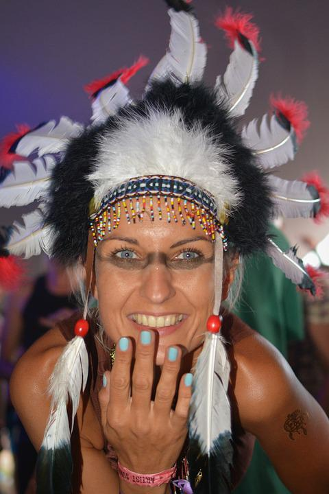 Indian, Squaw, People, Woman, Dress Up, Clothing
