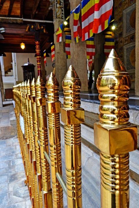 Gold Fence, Fence, Barrier, Kandy, Sri Lanka