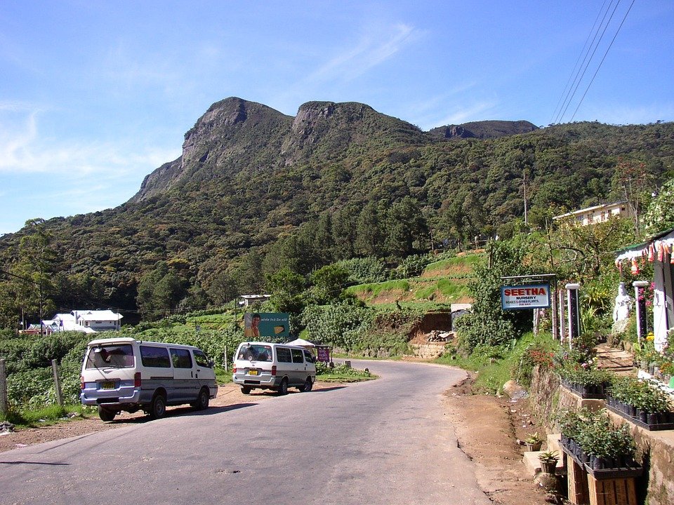 Sri Lanka, Highlands, Mountain, Road
