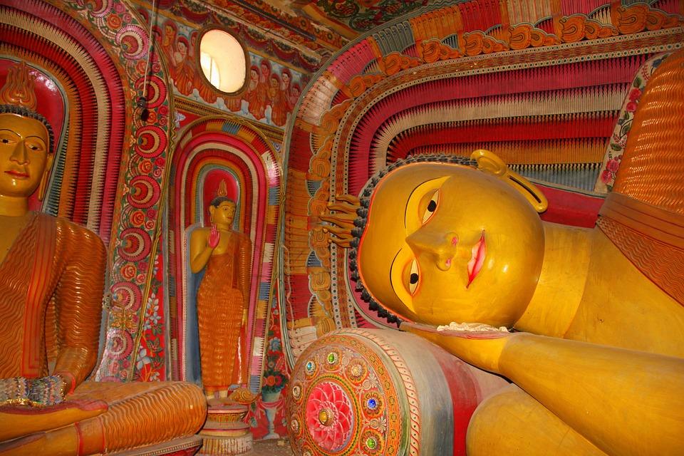 Sri Lanka, Sleeping Buddha, Temple