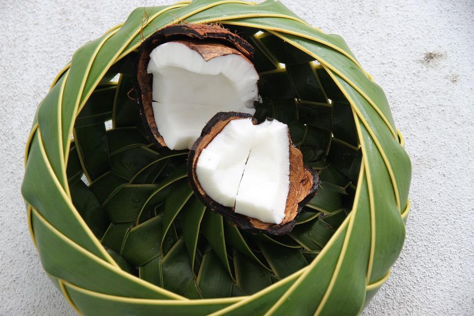 St Lucia, Coconut, Basket