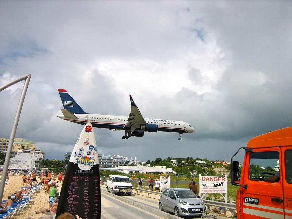 Caribbean, St Maarten, Aircraft