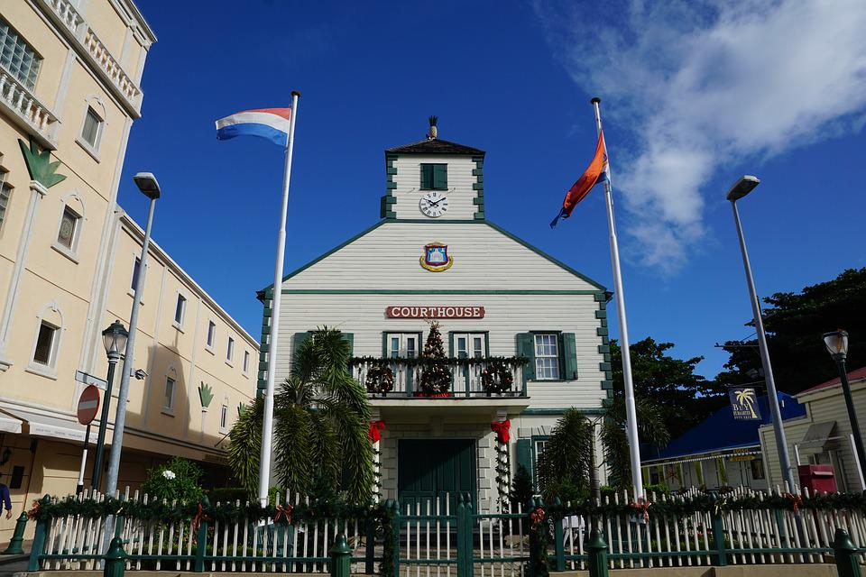 Philipsburg, St Maarten, Caribbean, Courthouse