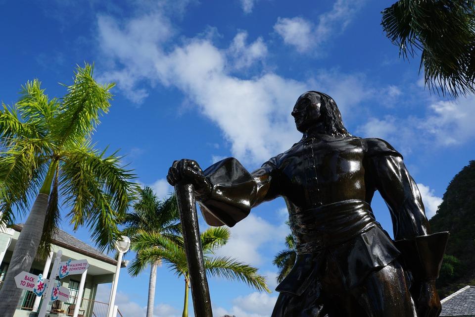 Philipsburg, St Maarten, Caribbean, Monument