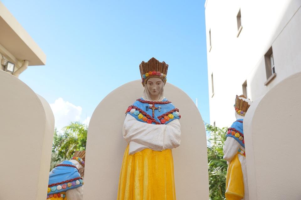Philipsburg, St Maarten, Caribbean, Church, Statue