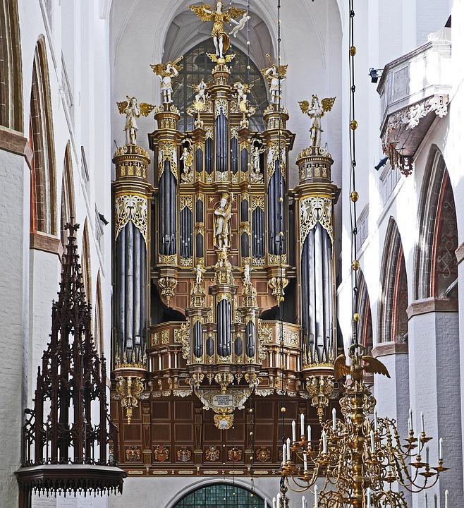 Organ, Gallery, Stralsund, St Mary's Church, Restored